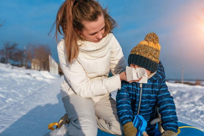 درمان سرماخوردگی در نوزادان در خانه