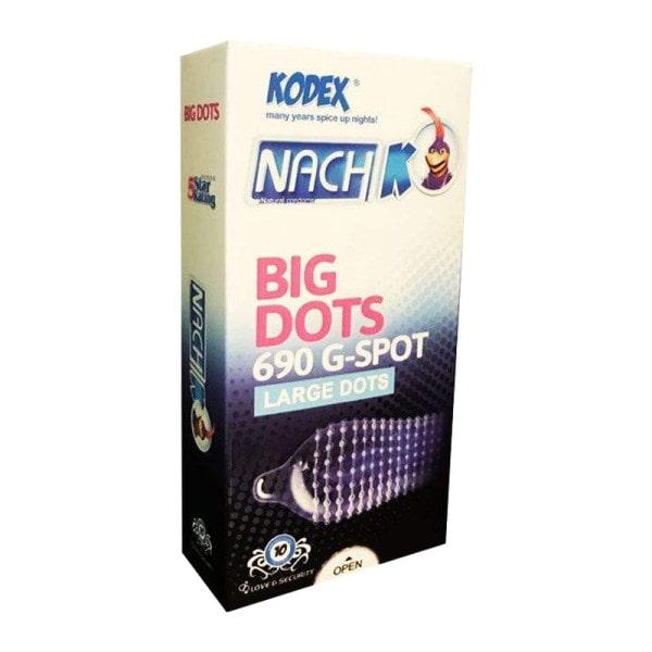 کاندوم خاردار ناچ کدکس مدل BIG DOTS بسته ۱۰ عددی