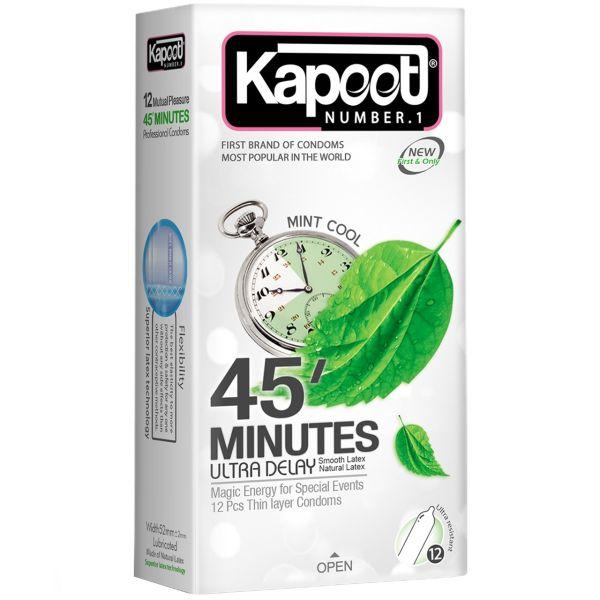 کاندوم کاپوت مدل ۴۵ Minutes بسته ۱۲ عددی
