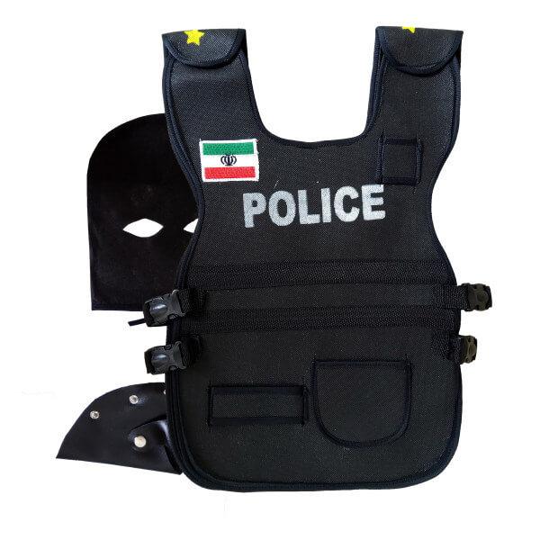 ست ایفای نقش مدل جلیقه ضد گلوله طرح پلیس مجموعه 3 عددی