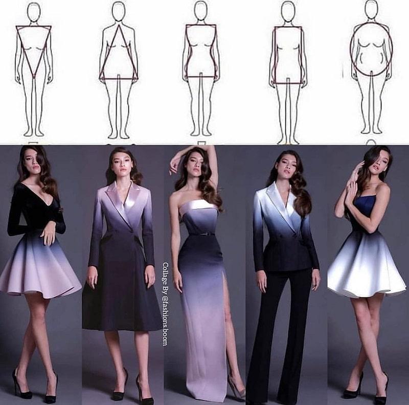 فرم بدن خود لباس