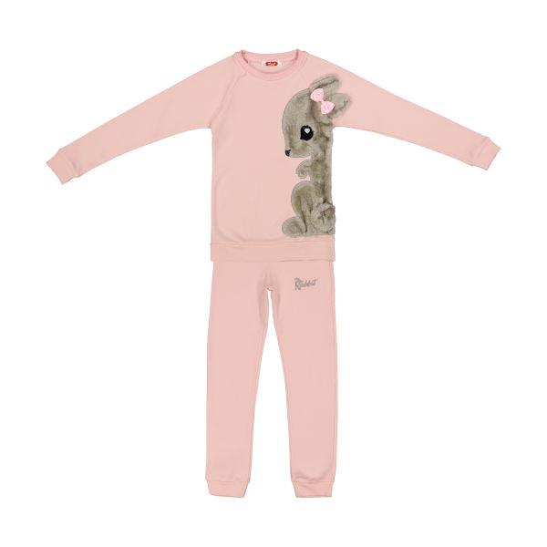 ست تی شرت و شلوار دخترانه مادر مدل Sherry Pink-84