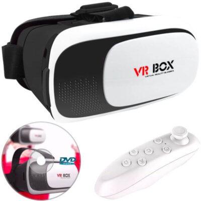 هدست واقعیت مجازی وی آر باکس مدل VR Box 2 به همراه ریموت کنترل بلوتوث