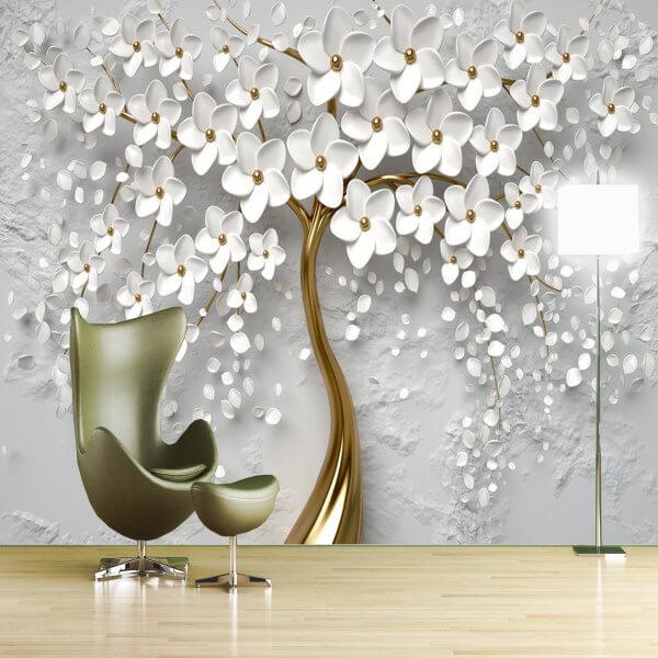 پوستر دیواری سه بعدی طرح گل کد 2118701